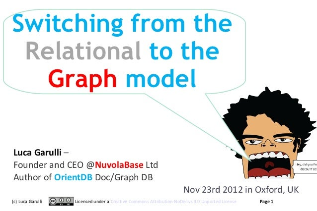 Switching from the Relational to the   Graph modelLuca Garulli –Founder and CEO @NuvolaBase LtdAuthor of OrientDB Doc/Grap...