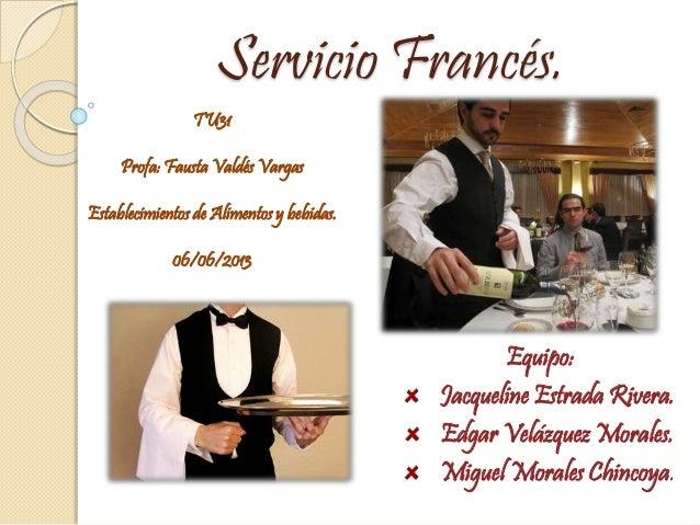 Servicio frances for Tipos de servicios de un hotel