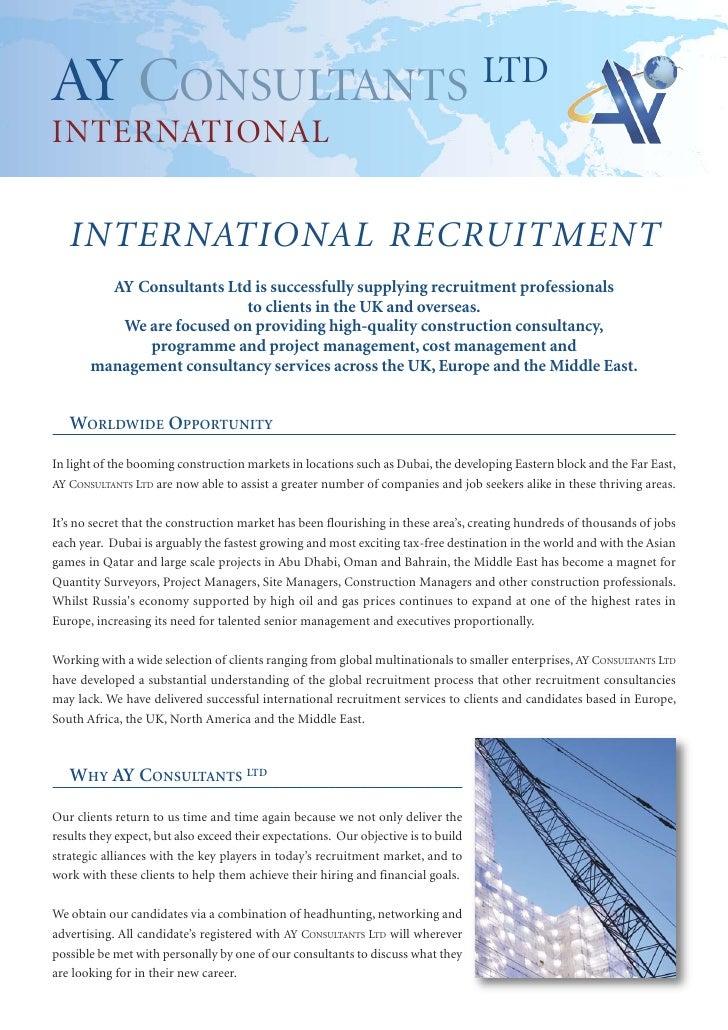 AY Construction Recruitment Brochure