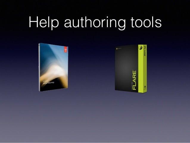 Help authoring tools