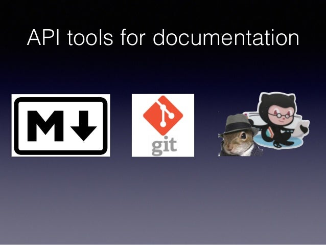 API tools for documentation