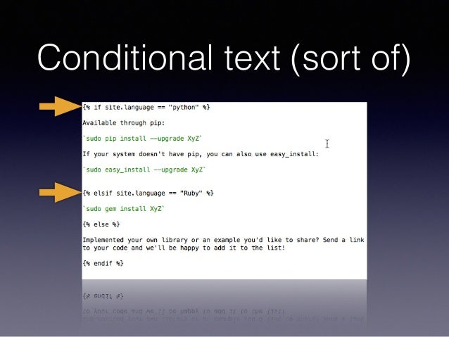 Conditional text (sort of)