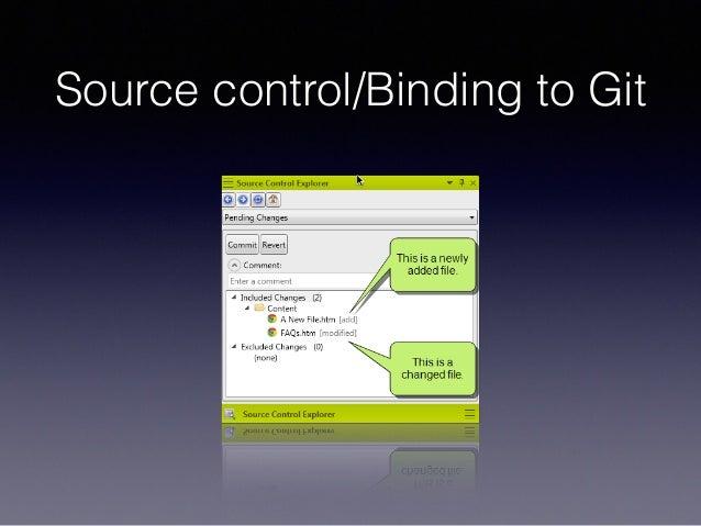 Source control/Binding to Git