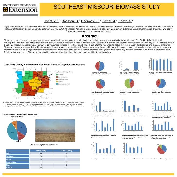 SOUTHEAST MISSOURI BIOMASS STUDY                                                                      Ayers,      V.H. 1; ...