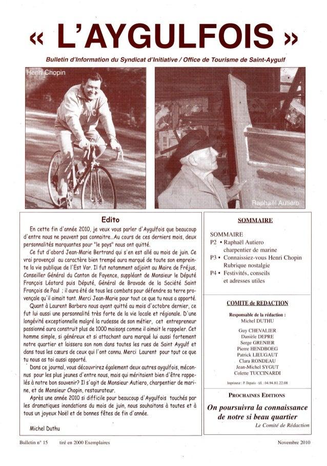 ((                   LAYGULFOIS               Bulletin dlnformation du Syndicat dlnitiative / Office de Tourisme de Saint-...