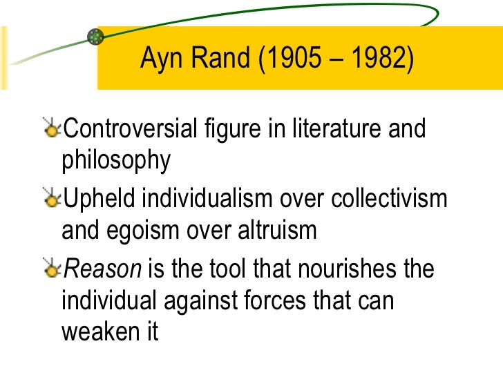 the push of philosophy over altruism in the fountainhead a novel by ayn rand The fountainhead is a 1943 novel by ayn rand and was her first  the 2008 adelaide soundwave festival and 2008 push over  the philosophy of ayn rand ,.