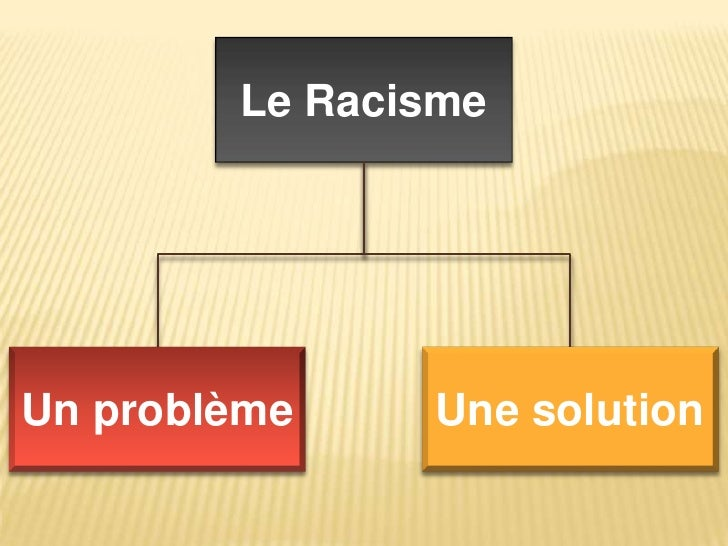 Le Racisme<br />Une solution<br />Un problème<br />