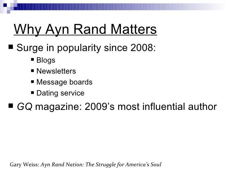 The Hidden Struggle for America/'s Soul Ayn Rand Nation