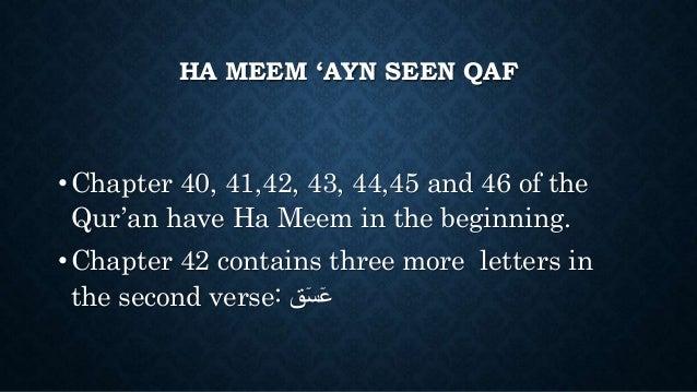 Ayn seen qaf