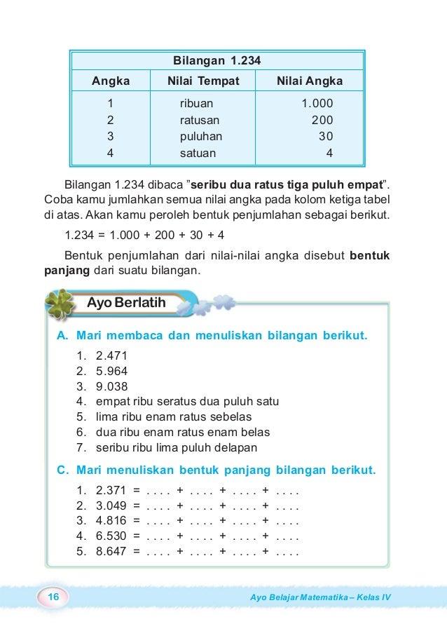 Ayo Belajar Matematika Untuk Sd Mi Kelas 4 Burhan Mustaqim Ary