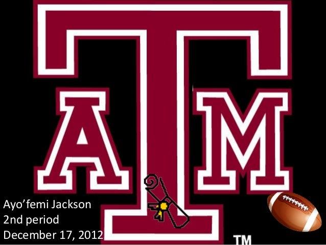 Ayo'femi Jackson2nd periodDecember 17, 2012