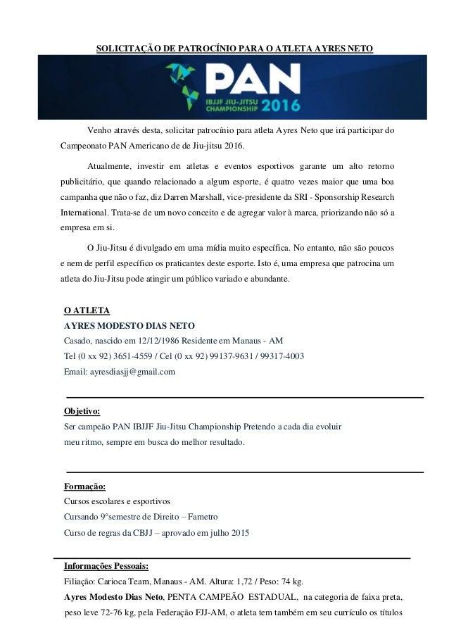 Ayres Neto Pan 2016
