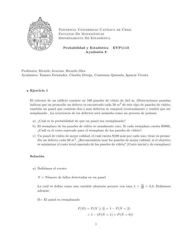 ´                        Pontificia Universidad Catolica de Chile                        Facultad De Matema  ´ ticas      ...