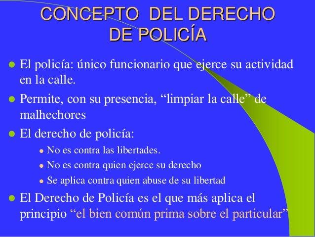 policía Derecho