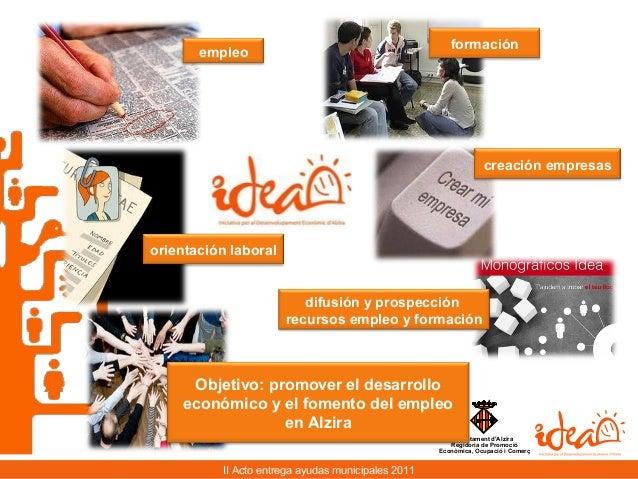 2o Acto entrega Ayudas municipales Alzira 2011 Slide 2