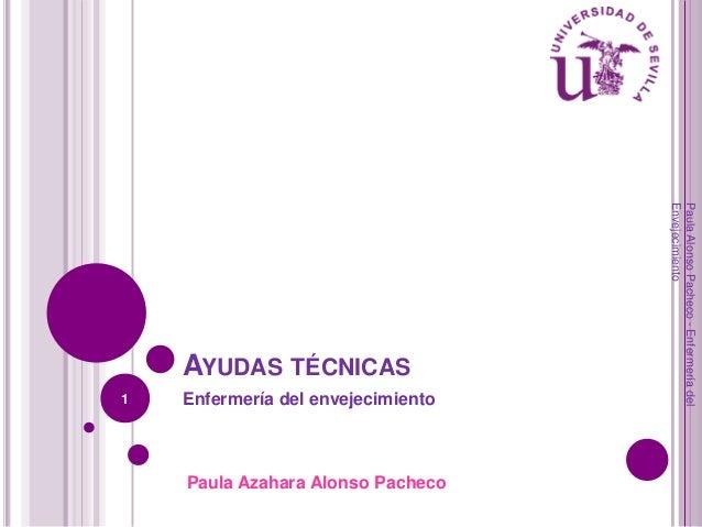 1  Enfermería del envejecimiento  Paula Azahara Alonso Pacheco  Paula Alonso Pacheco - Enfermería del Envejecimiento  AYUD...