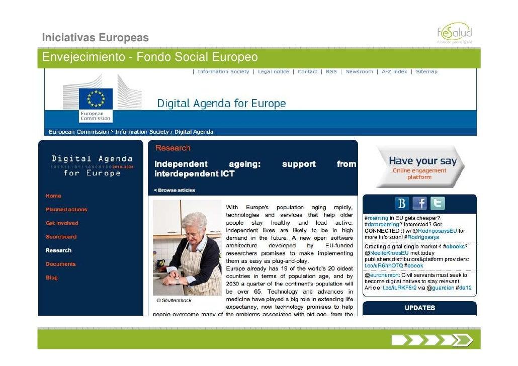 Iniciativas EuropeasEnvejecimiento - Fondo Social Europeo