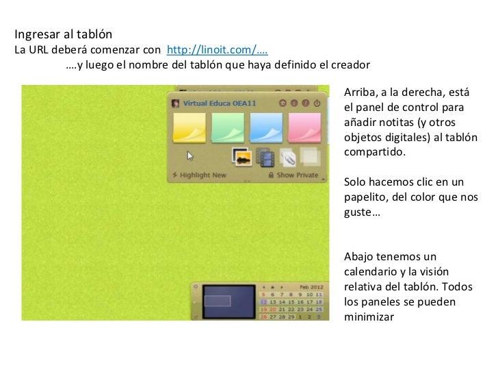 Ayuda para editar el tablon en linoit Slide 2