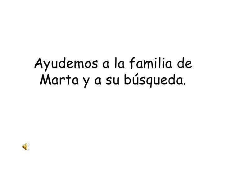Ayudemos a la familia de Marta y a su búsqueda.