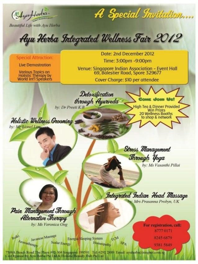 AYU HERBA Integrated WELLness Fair 2012