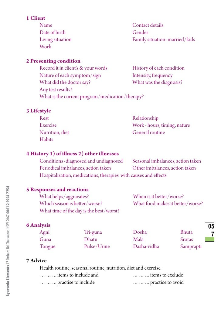 ayurveda diagnosis rama prasad ayurveda elements