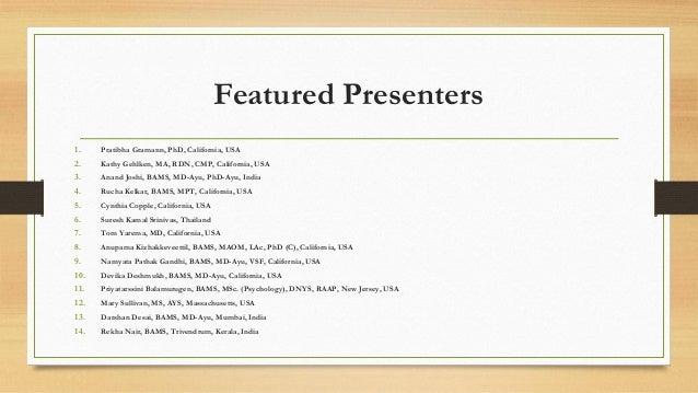 Ayurveda & Autoimmune Disorders, October 9 -11, 2015