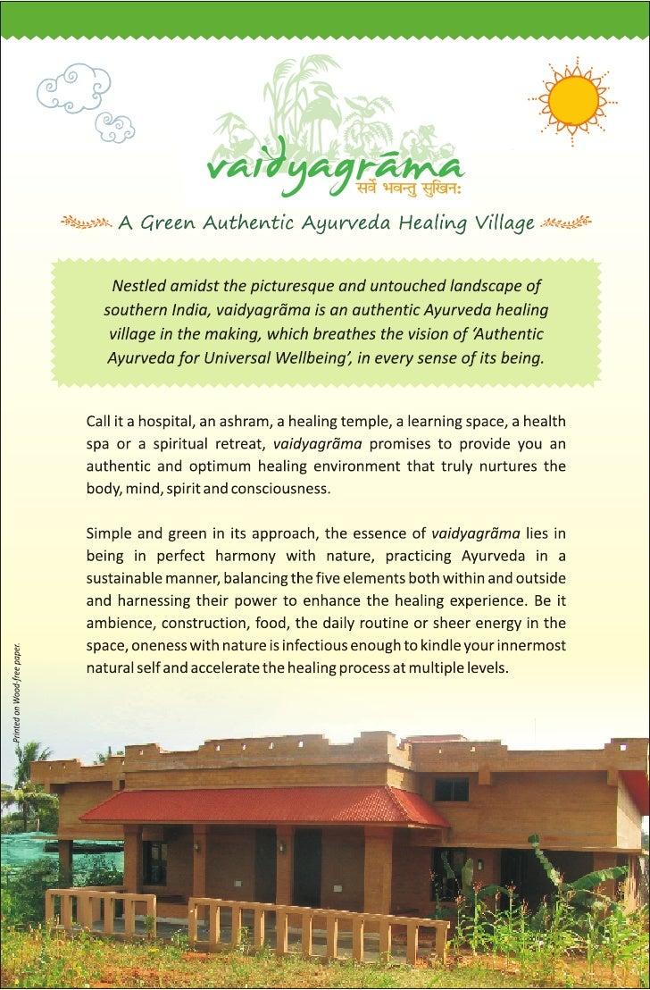 Ayurveda Healing Village, Vaidyagrama Ayurveda Healing Village