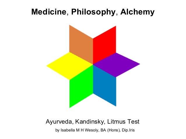 Ayurveda, Kandinsky, Litmus Test Medicine, Philosophy, Alchemy by Isabella M H Wesoly, BA (Hons), Dip.Iris