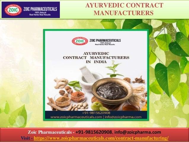 Zoic Pharmaceuticals - +91-9815620908, info@zoicpharma.com Visit - https://www.zoicpharmaceuticals.com/contract-manufactur...