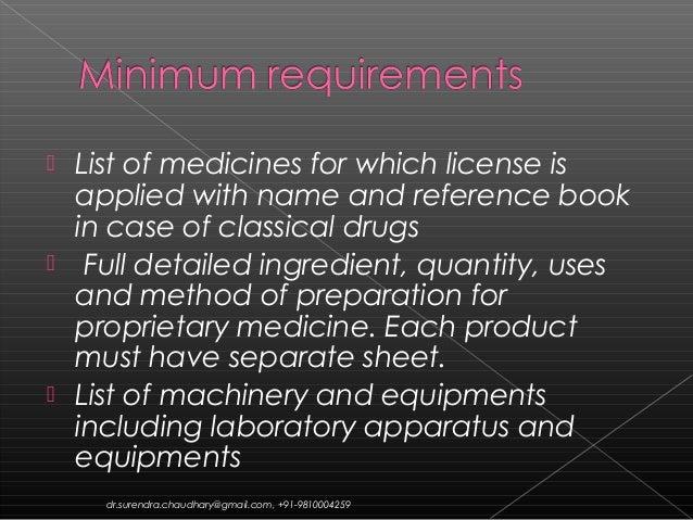 How can I get Ayurvedic drug manufacturing license?