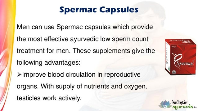 Treatment for a low sperm count