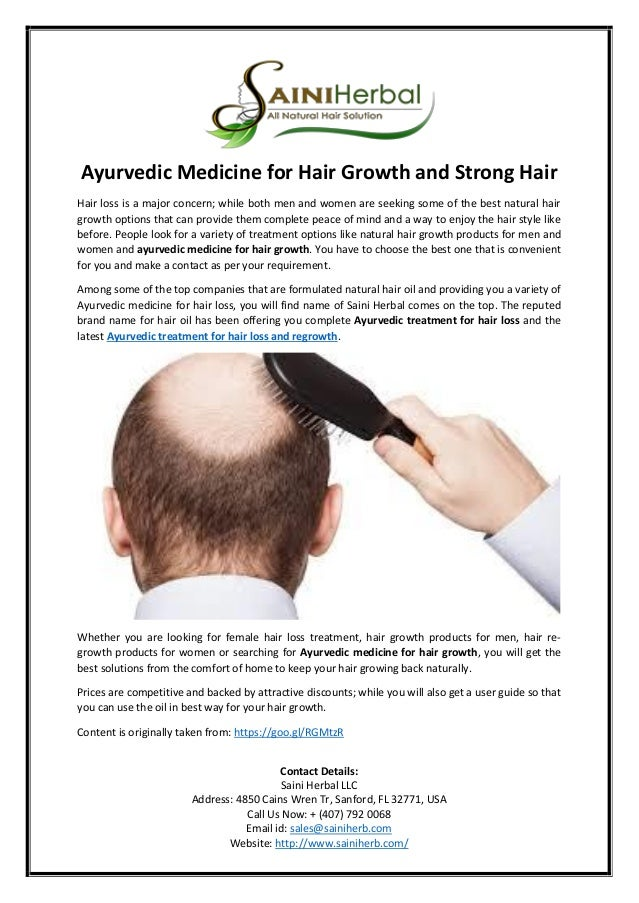Ayurvedic Medicine For Hair Growth And Strong Hair