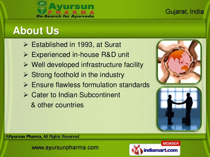 About Us    Established in 1993, at Surat    Experienced in-house R&D unit    Well developed infrastructure facility  ...