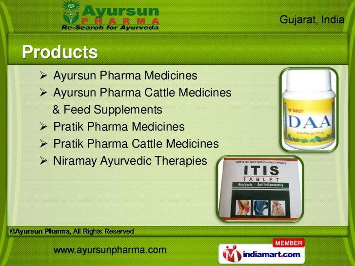 Products  Ayursun Pharma Medicines  Ayursun Pharma Cattle Medicines   & Feed Supplements  Pratik Pharma Medicines  Pra...