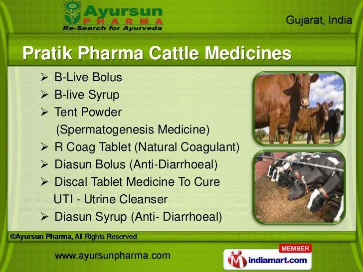 Pratik Pharma Cattle Medicines   B-Live Bolus   B-live Syrup   Tent Powder    (Spermatogenesis Medicine)   R Coag Tabl...