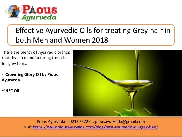 Best Ayurvedic oil for grey hair