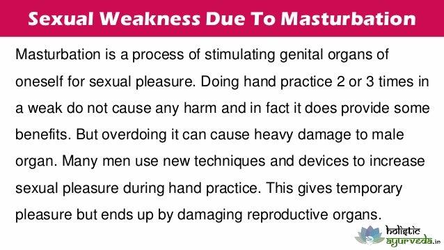 Masturbation causes weakness