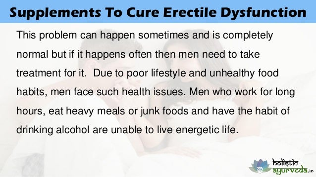 Foods To Eat To Cure Erectile Dysfunction