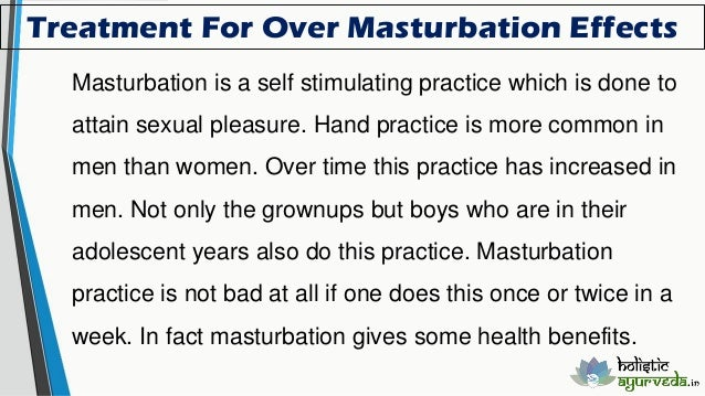 Masturbation and increased libido