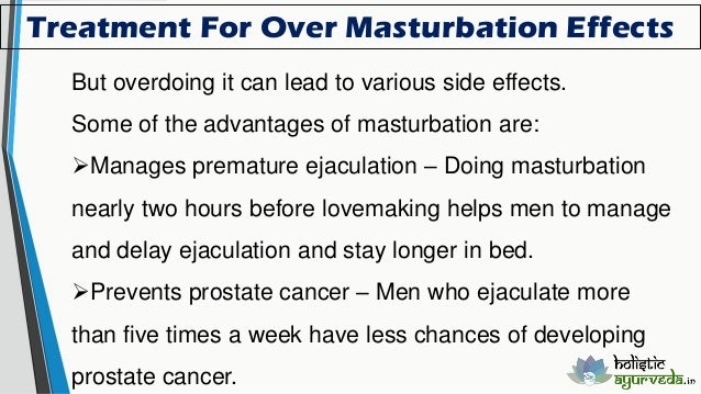 Masturbation and prostate problems