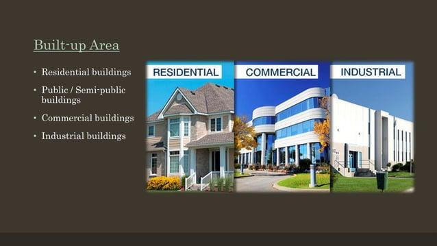 Built-up Area • Residential buildings • Public / Semi-public buildings • Commercial buildings • Industrial buildings