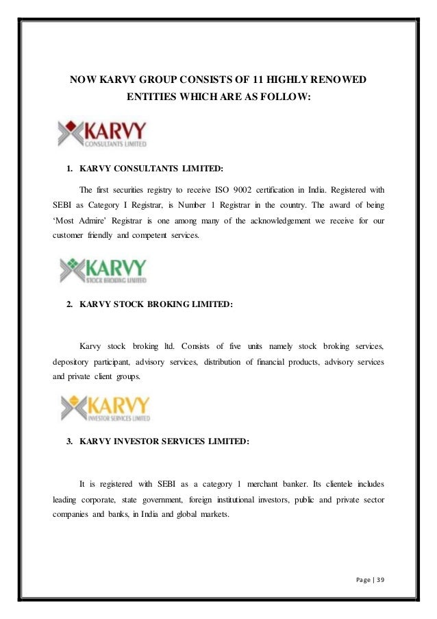 karvy organisation study report The world development report (wdr) 2019: the changing nature of work studies how the nature of work is changing as a result of advances in technology today.