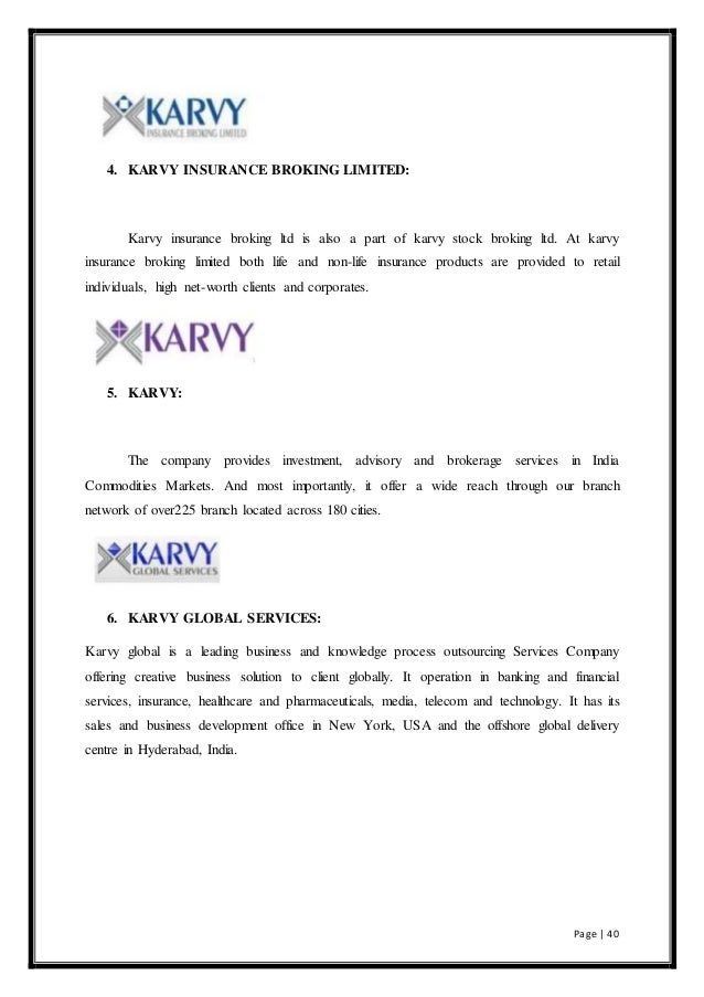 karvy organisation study report Methodology and organisation of the study 21 project management 2 of the main report based on criteria of dynamism, potential for.