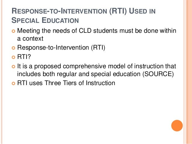 interventions special education A response-to-intervention intervention teacher responsibilities vary from school to school students are referred for special education courses 7.