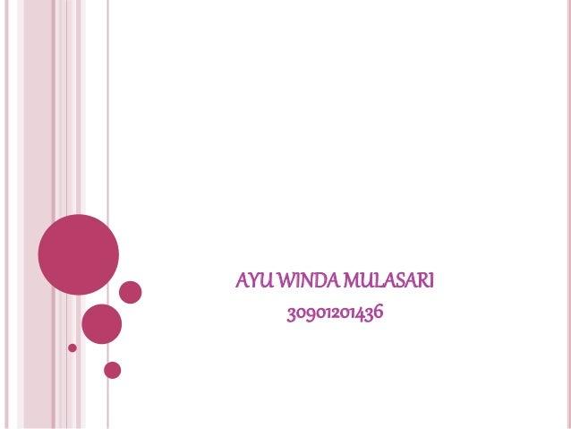 AYU WINDA MULASARI  30901201436