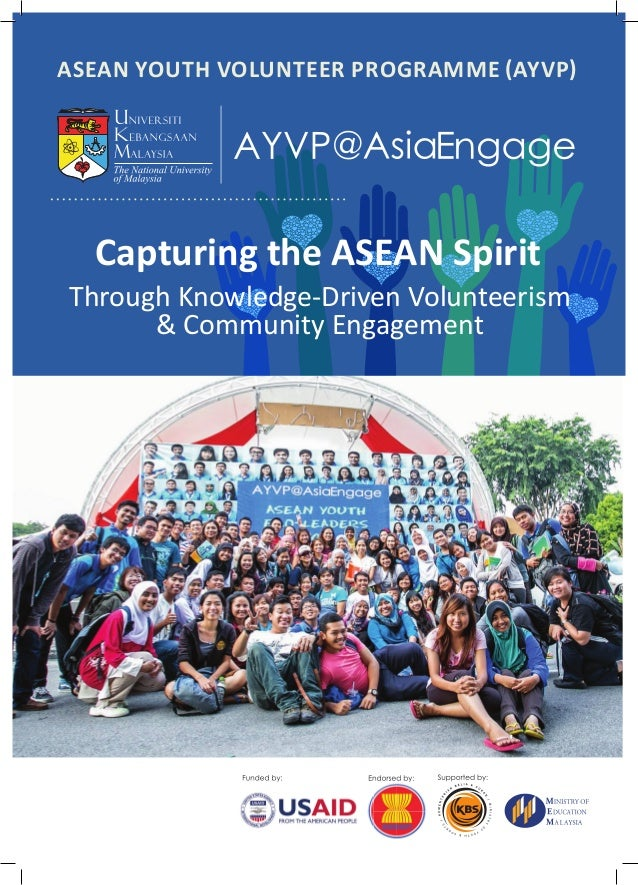 ASEAN Youth Volunteer Programme (AYVP)  Capturing the ASEAN Spirit  Through Knowledge-Driven Volunteerism & Community Enga...