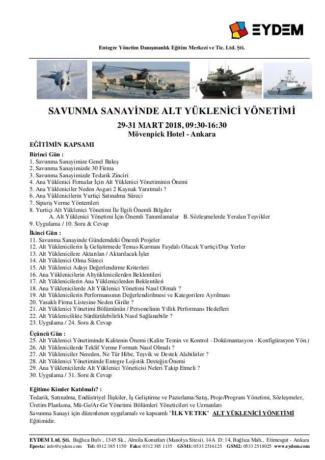 Entegre Yönetim Danışmanlık Eğitim Merkezi ve Tic. Ltd. Şti. EYDEM Ltd. Şti. Bağlıca Bulv., 1345 Sk., Almila Konutları (Ma...