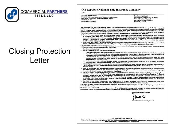 closing protection letter closing protection letter fill the gap between you and 36719