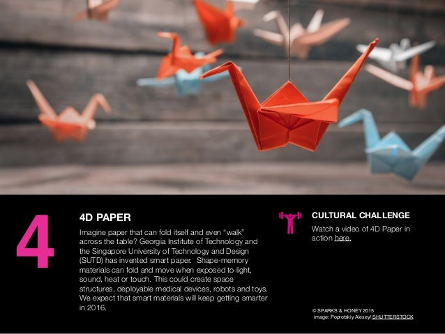 "AGENCY OF RELEVANCE 4D PAPER Imagine paper that can fold itself and even ""walk"" across the table? Georgia Institute of Tec..."