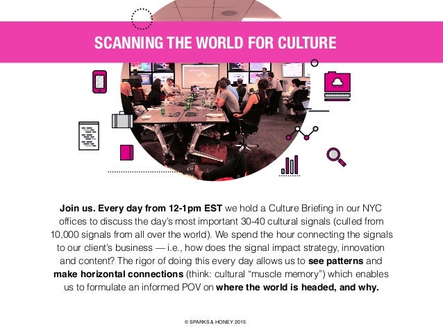 AGENCY OF RELEVANCE SCANNING THE WORLD FOR CULTURE Join us. Every day from 12-1pm EST we hold a Culture Briefing in our NYC...